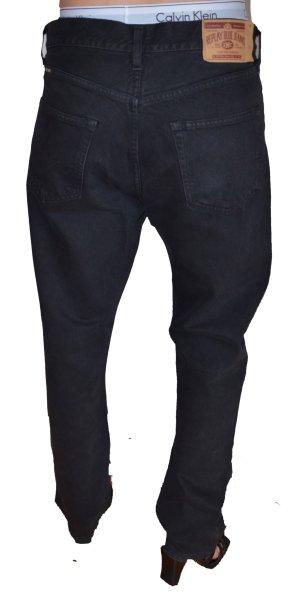 Replay Jeans a gamba dritta nero Cotone