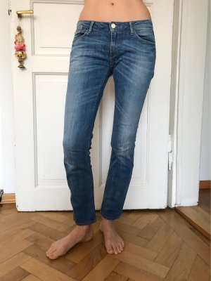 Replay Low Rise jeans staalblauw