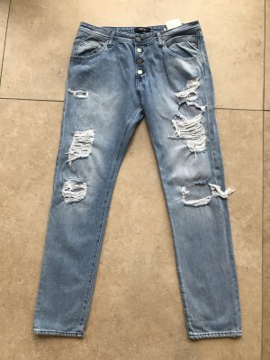 Replay Baggy Jeans white-steel blue