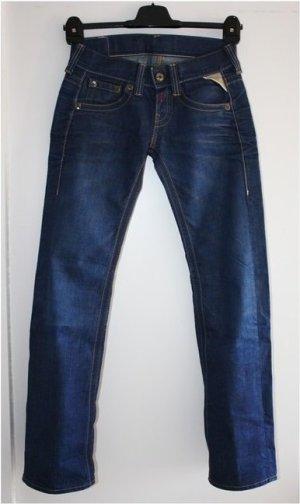 Replay Jeans boyfriend bleu coton