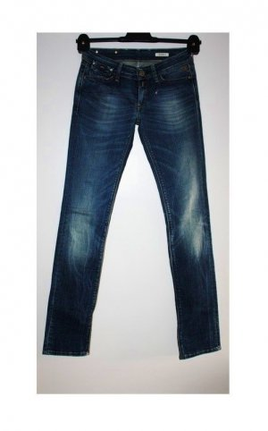 Replay Tube Jeans blue cotton
