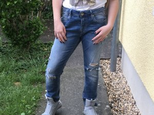 Replay Jeans Leena zum Knöpfen destroyed Look