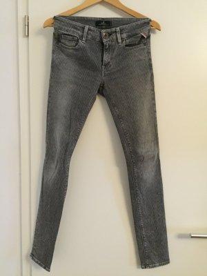 Replay Jeans mit leichtem Rautenmuster