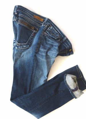 Replay Straight Leg Jeans blue mixture fibre