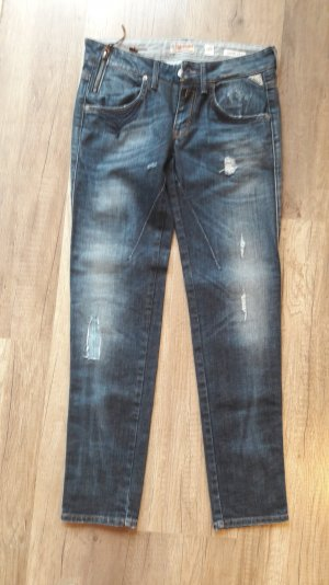 Replay Jeans Ramilies Tapered Slim Fit Röhre Dunkelblau Denim Skinny Ankle 25