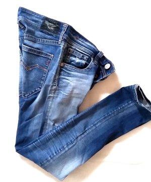 Replay Slim jeans blauw-neon blauw Lycra
