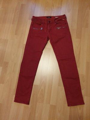 Replay Pantalón de cinco bolsillos rojo