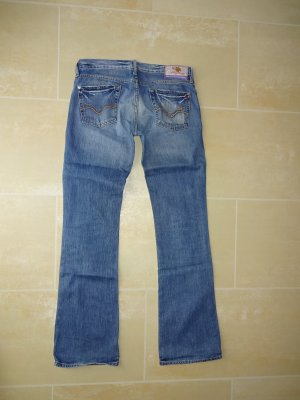 Replay Boot Cut spijkerbroek staalblauw