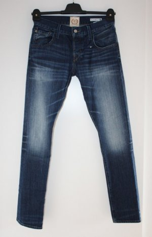 Replay Jeans taille basse bleu coton