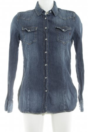 Replay Jeans blouse donkerblauw