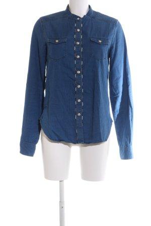 Replay Chemise en jean bleu style décontracté