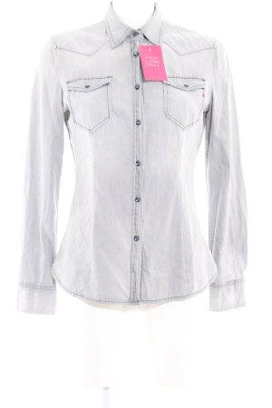 Replay Denim Shirt light grey casual look
