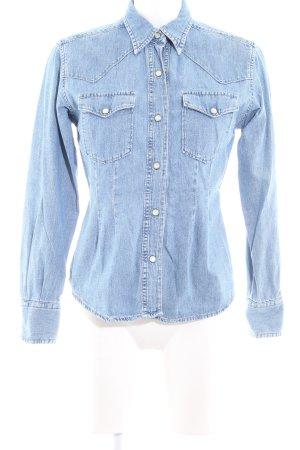 Replay Denim Shirt azure casual look