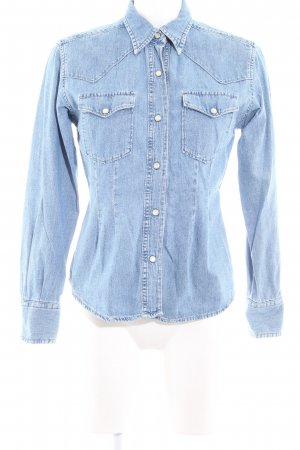 Replay Camisa vaquera azul celeste look casual