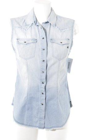 Replay Camicia denim azzurro Cotone