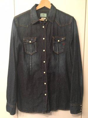 Replay Denim Shirt dark blue cotton