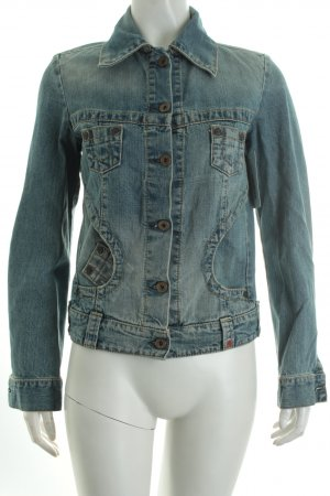 Replay Jeansjacke blau Casual-Look