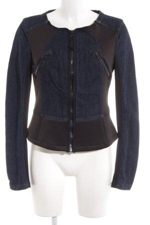 Replay Veste en jean bleu foncé-noir Aspect de combinaison de matériaux