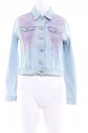 Replay Jeansjacke himmelblau-rosa Casual-Look