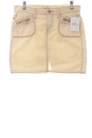Replay Jeansrock creme-camel Casual-Look