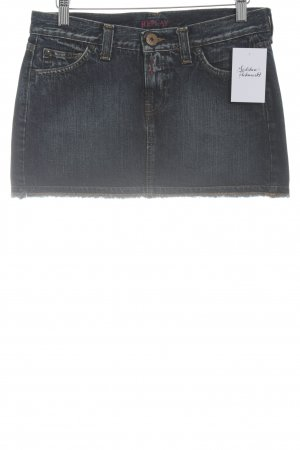 Replay Jeansrock dunkelblau Casual-Look