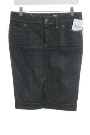 Replay Jeansrock dunkelblau Jeans-Optik