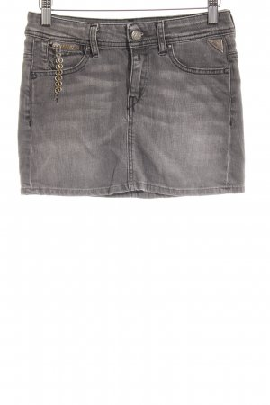 Replay Jeansrock grau Washed-Optik