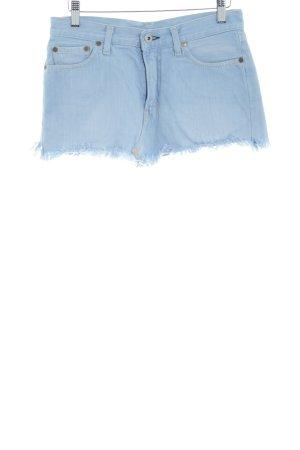 Replay Jupe en jeans bleu azur style déchiré