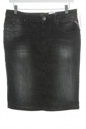 Replay Jeansrock schwarz-anthrazit Jeans-Optik