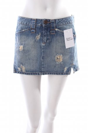 Replay Jeansrock stahlblau Used-Optik