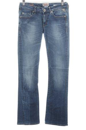 Replay Jeans a zampa d'elefante blu look vintage