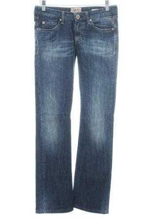 Replay Jeans a zampa d'elefante blu scuro look vintage