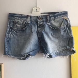 Replay Short en jean gris ardoise-bleu pâle