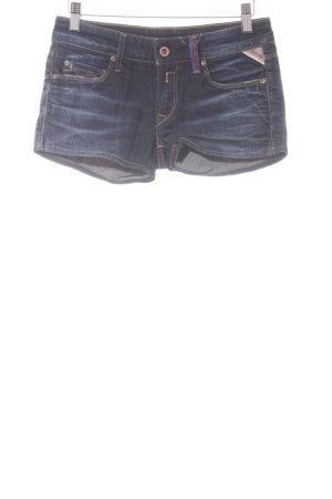 Replay Pantaloncino di jeans blu scuro stile universitario