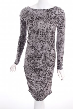 Replay Jerseykleid grau-schwarzbraun abstraktes Muster Urban-Look