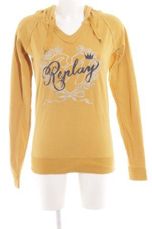 Replay Jersey con capucha letras impresas look casual