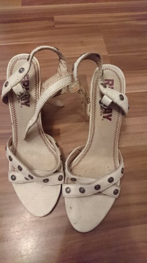 Replay High-Heeled Sandals natural white