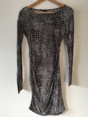 Replay Vestido de tela de jersey negro-gris antracita