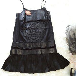 Replay Vestido tipo overol negro