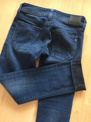 Replay Jeans met rechte pijpen donkerblauw Gemengd weefsel