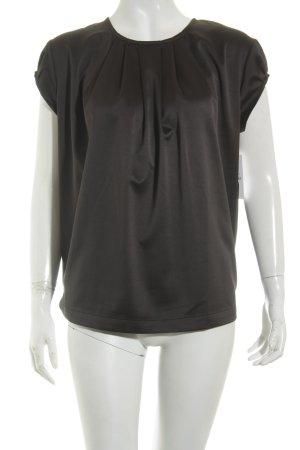 Replay Kurzarm-Bluse schwarz schlichter Stil