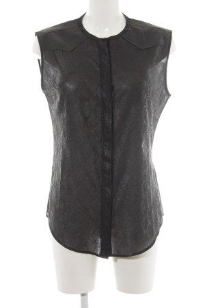Replay Short Sleeve Shirt black animal print