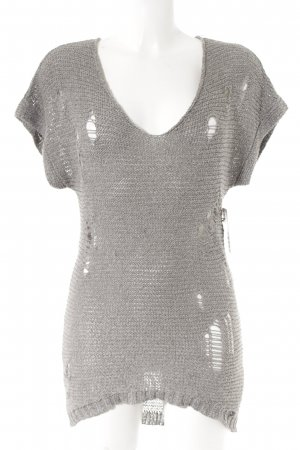 Replay Short Sleeve Sweater light grey flecked second hand look