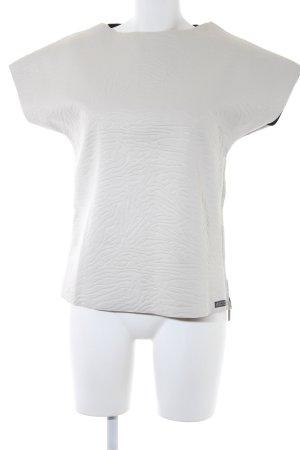 Replay Sweater met korte mouwen licht beige Gemengd weefsel