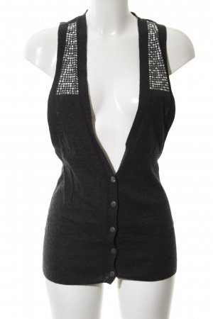 Replay Short Sleeve Knitted Jacket black extravagant style
