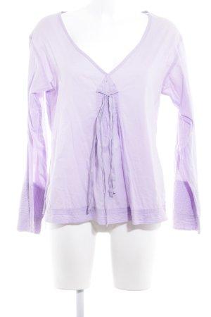 Replay Blusa de manga larga púrpura look casual