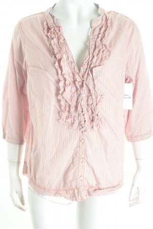 Replay Langarm-Bluse Streifenmuster Casual-Look