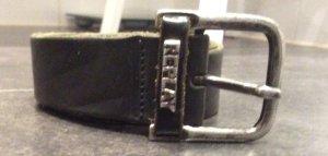 Replay Ledergürtel schwarz/grau- Gr. 90