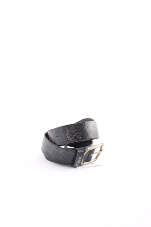 Replay Leather Belt black punk style
