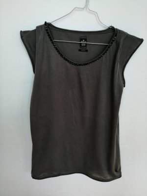 Replay Camicia lunga grigio scuro-nero
